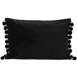 Crystal Pom Pom Black Cushion