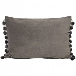 Crystal Pom Pom Silver Cushion