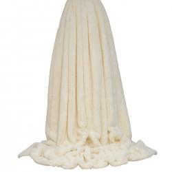 Empress Cream Throw