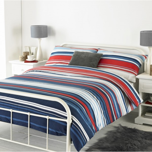 Lymington Blue/Red Brushed Cotton