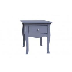 Paris Grey 1 Drawer Bedside Cabinet