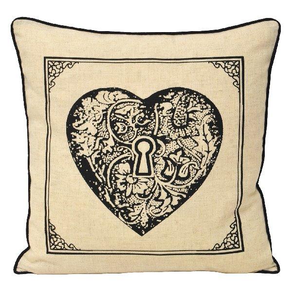 Keys Heart Cushion