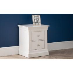 Clermont 2 Drawer Bedside Cabinet