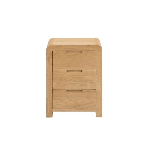 Curve 3 Drawer Bedside Cabinet