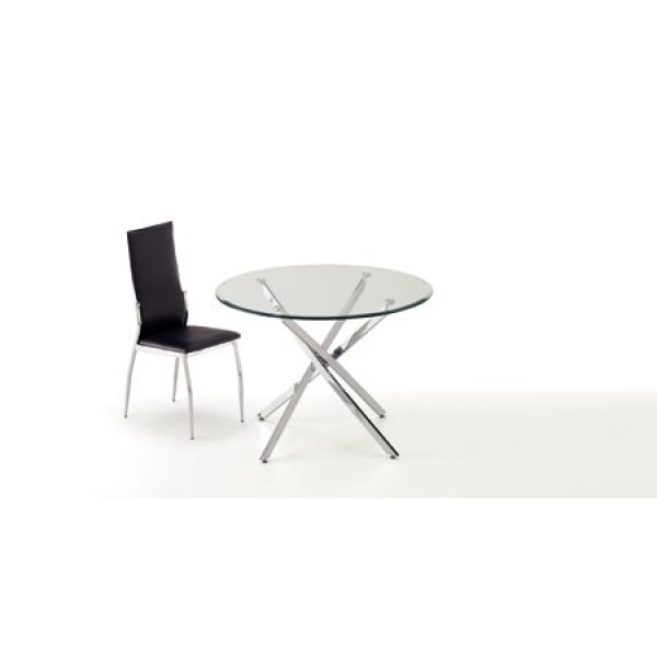 Gara Round Glass Dining Table