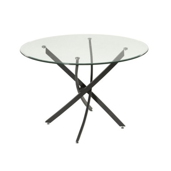 Prisma Round Glass Dining Table