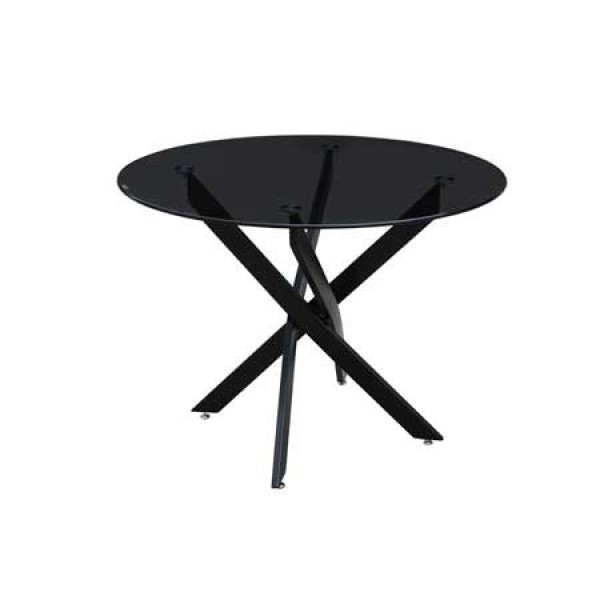 Swan Round Glass Dining Table