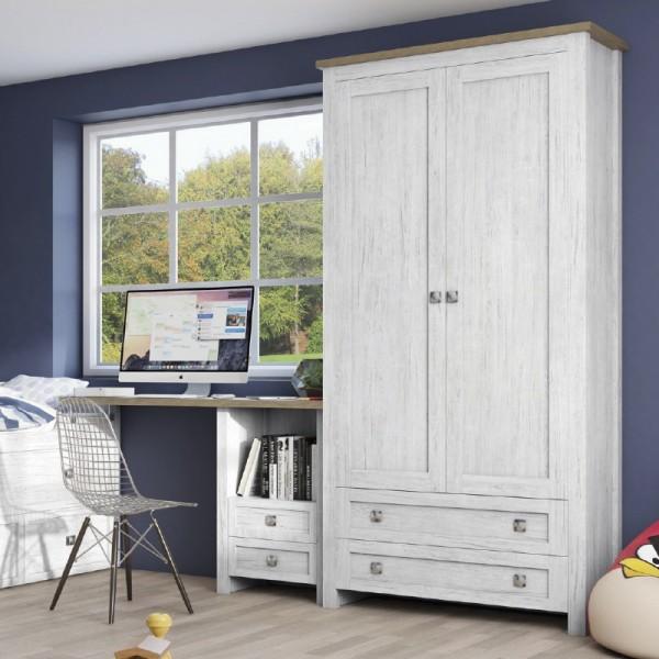 Baku Grey 2 Door 2 Drawer Wardrobe