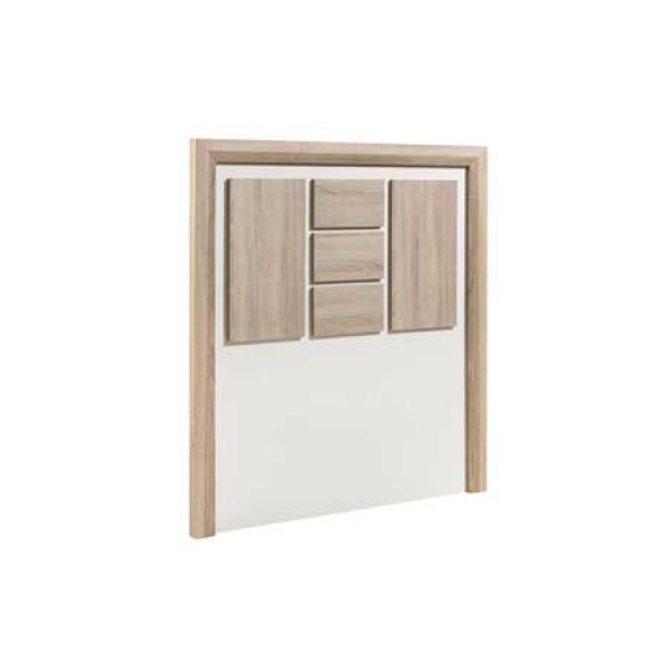 Dado White & Wood Headboard