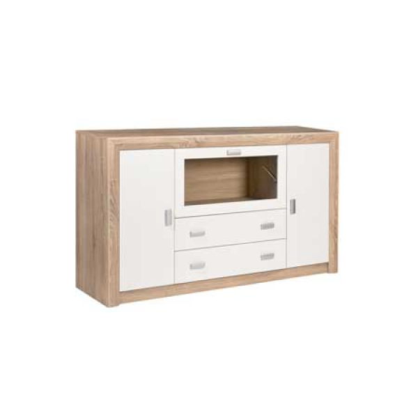 Dado Oak & White Sideboard