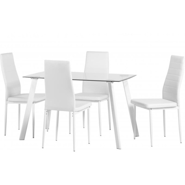 Abbey White Dining Set
