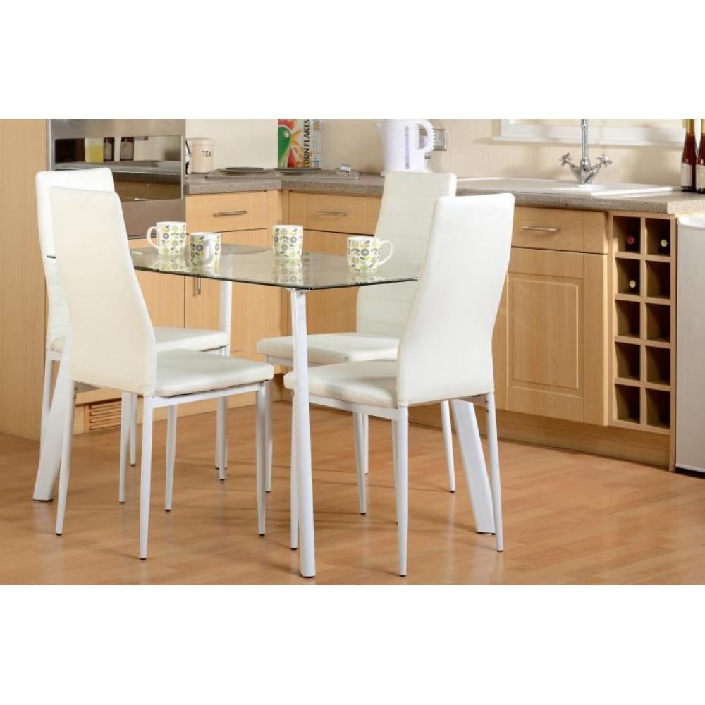 Abbey White Dining Set