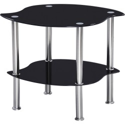 Colby Black Glass Lamp Table