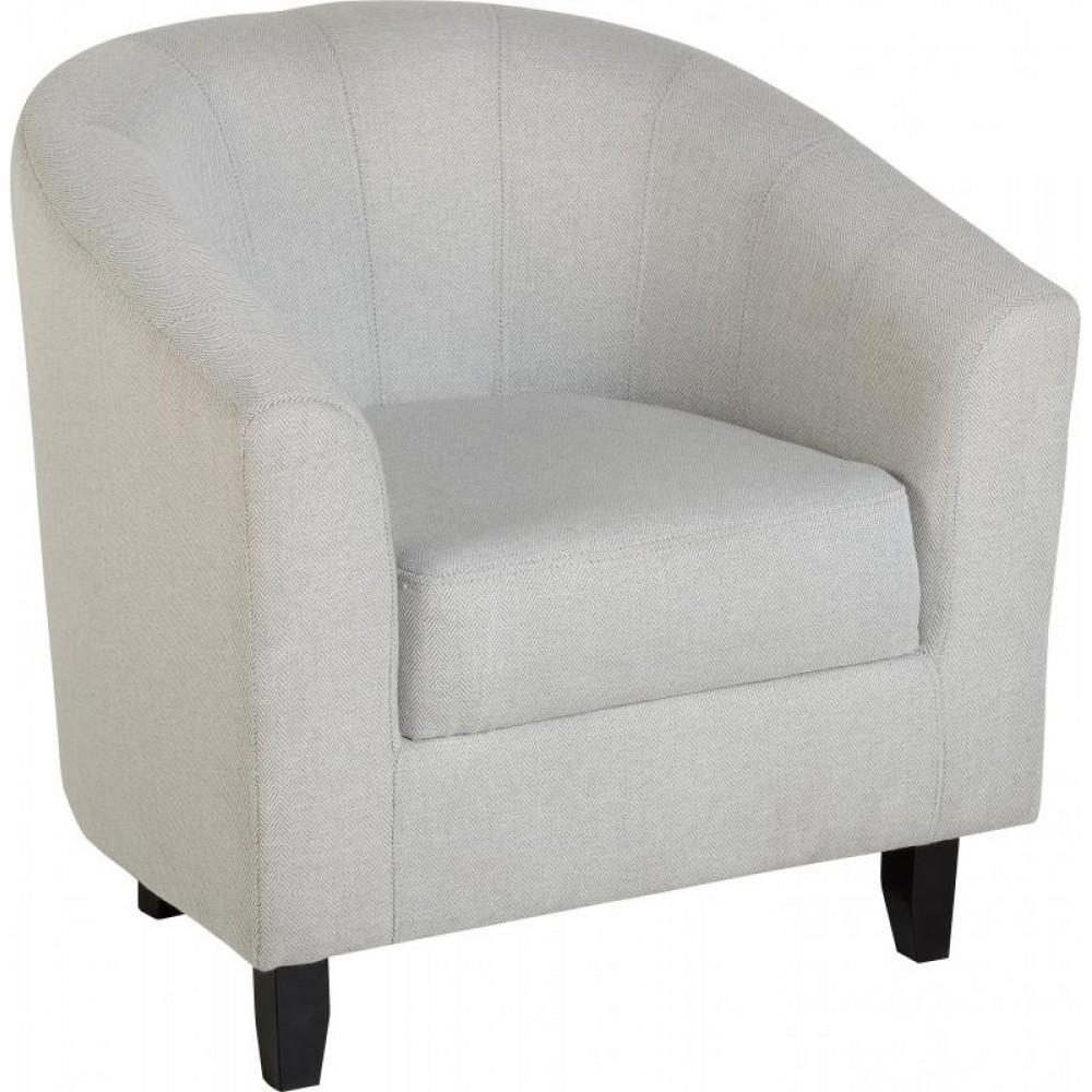 Hammond Grey Herringbone Tub Chair