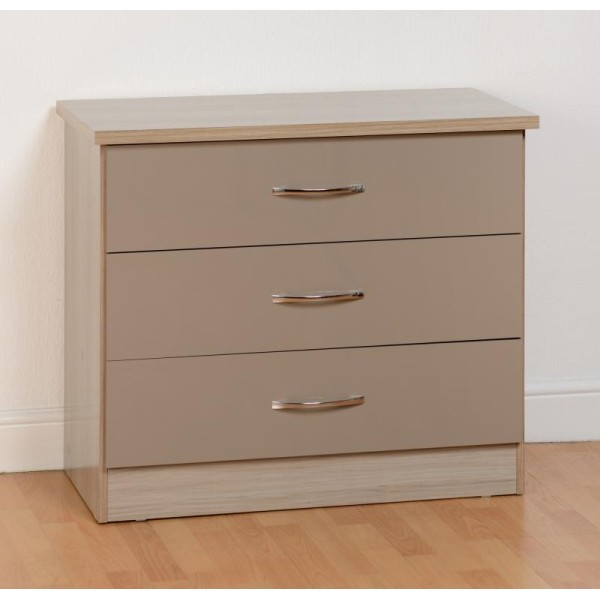 Nevada Oyster 3 Drawer Chest