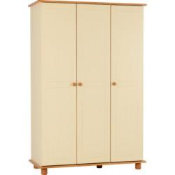 Sol Cream 3 Door Wardrobe