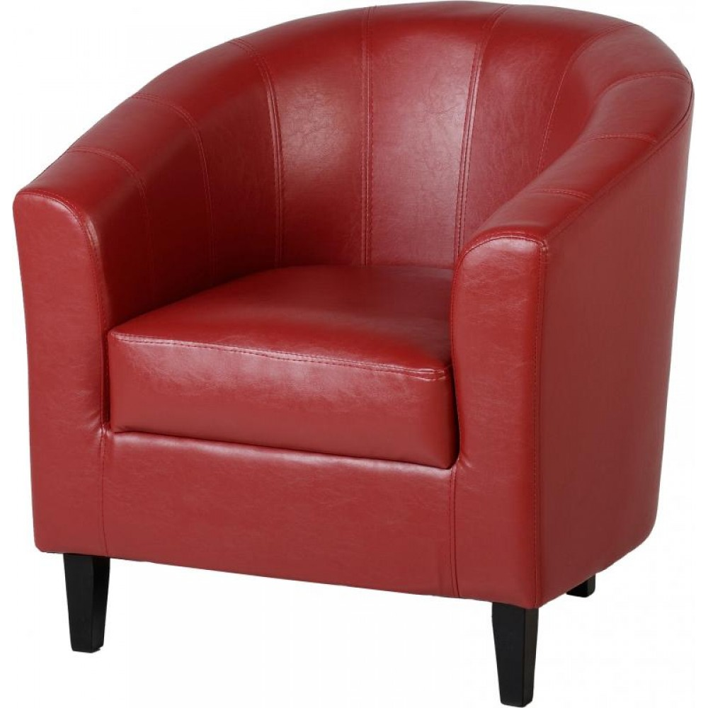 Tempo Faux Leather Tub Chair