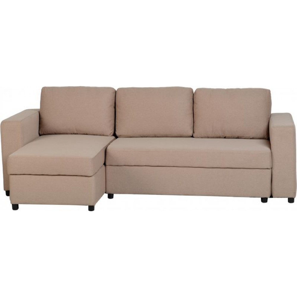 Dora corner sofa bed brown Corner couch with sofa bed