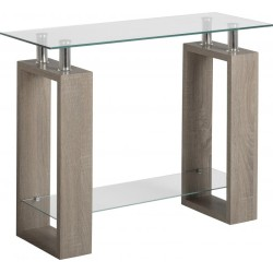 Milan Charcoal Console Table