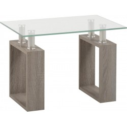 Milan Charcoal Lamp Table