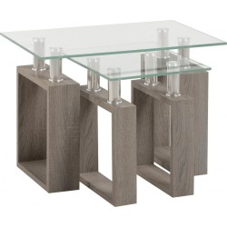 Milan Charcoal Nest of Tables