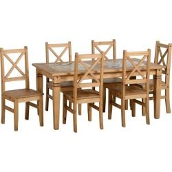 Salvador 1+6 Tile Top Dining Set