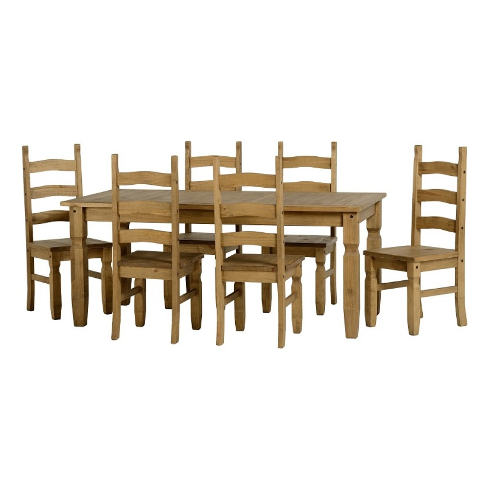 Corona Ft Dining Set - 6ft dining table and chairs