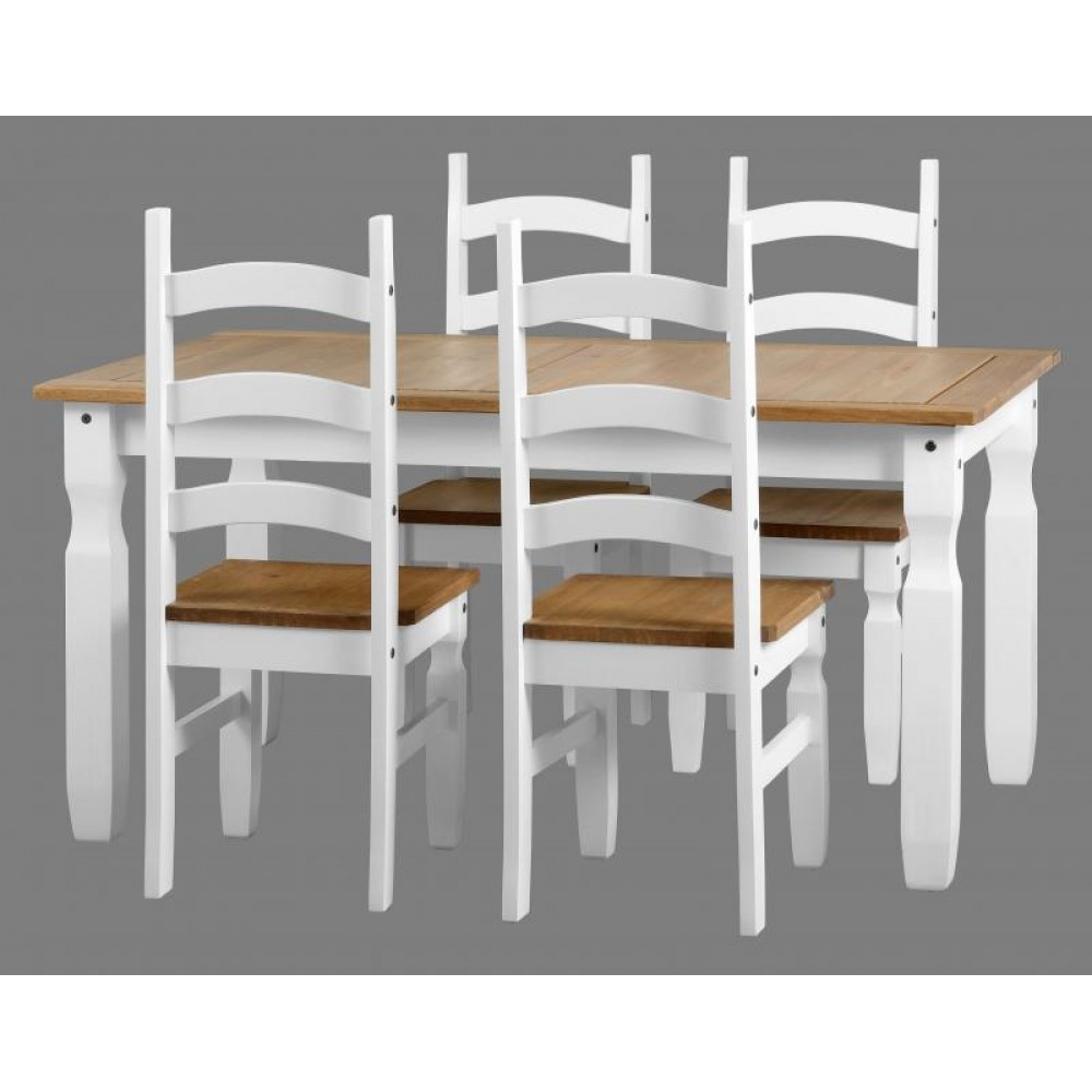 Superb Corona White Dining Set Gmtry Best Dining Table And Chair Ideas Images Gmtryco