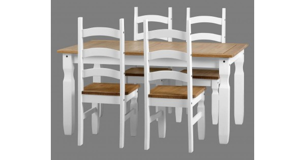 Miraculous Corona White Dining Set Gmtry Best Dining Table And Chair Ideas Images Gmtryco
