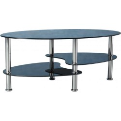 Lounge Room Furniture Coffee Tables Homecentre Albox Contemporary Gl Polished Chrome