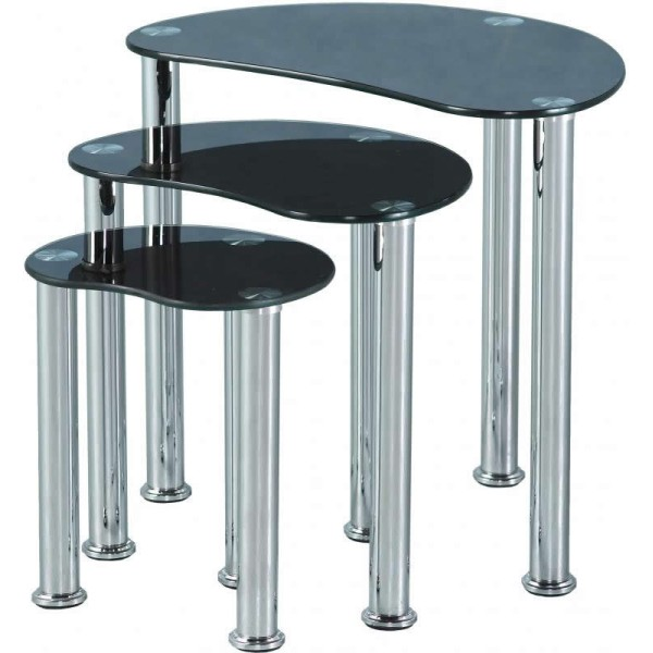 Cara Black Nest of Tables